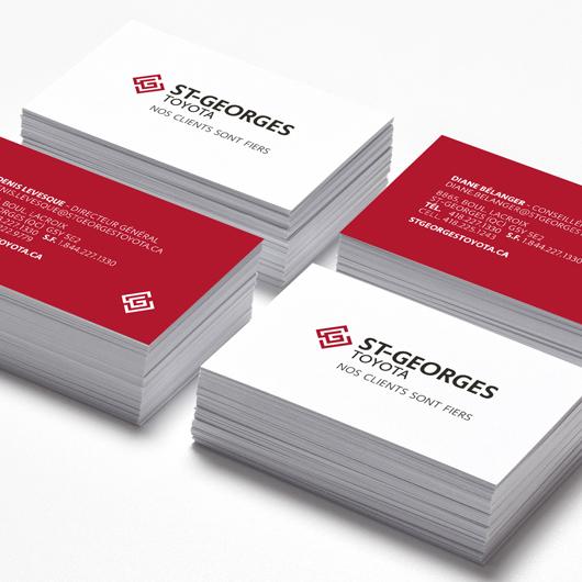 Beez, créations, Saint-Georges Toyota, cartes d'affaires