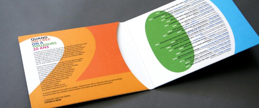 Beez Créativité Média, Conseil des arts et des lettres du Québec, design, CD