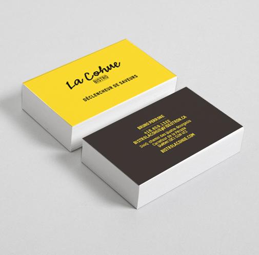 Beez Créativité Média, La Cohue, Cartes d'affaires